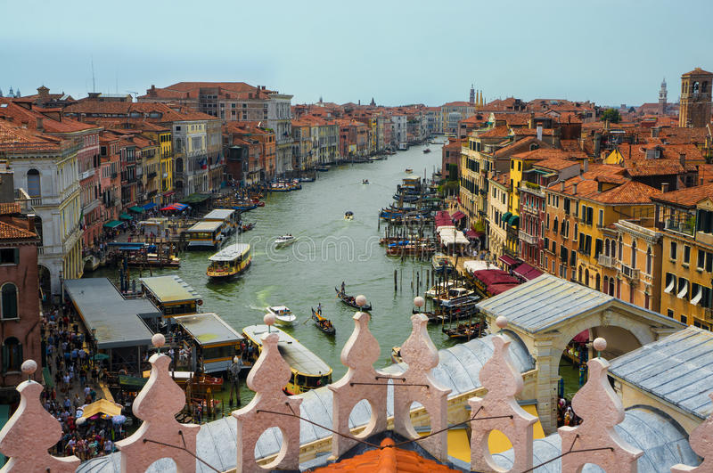 Beautiful panoramic view on Venice from the top stock image