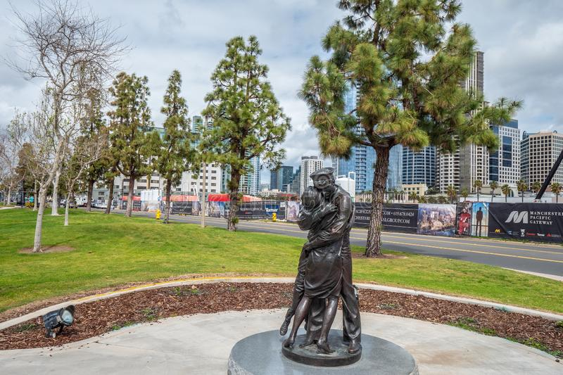 Beautiful park at San Diego bay - CALIFORNIA, USA - MARCH 18, 2019. Beautiful park at San Diego bay - CALIFORNIA, UNITED STATES - MARCH 18, 2019 stock photography