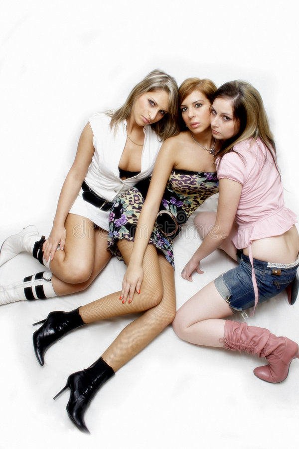 Beautiful party girls stock images