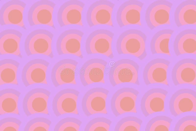 Pastel purple tone of circle pattern for texture and background. Beautiful Pastel purple tone of circle pattern for texture and background stock illustration