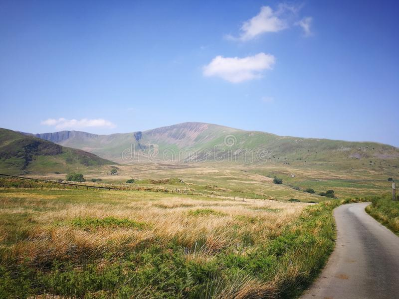 Snowdonia National Park hike experience. Beautiful path in the largest National Park in Wales stock photography
