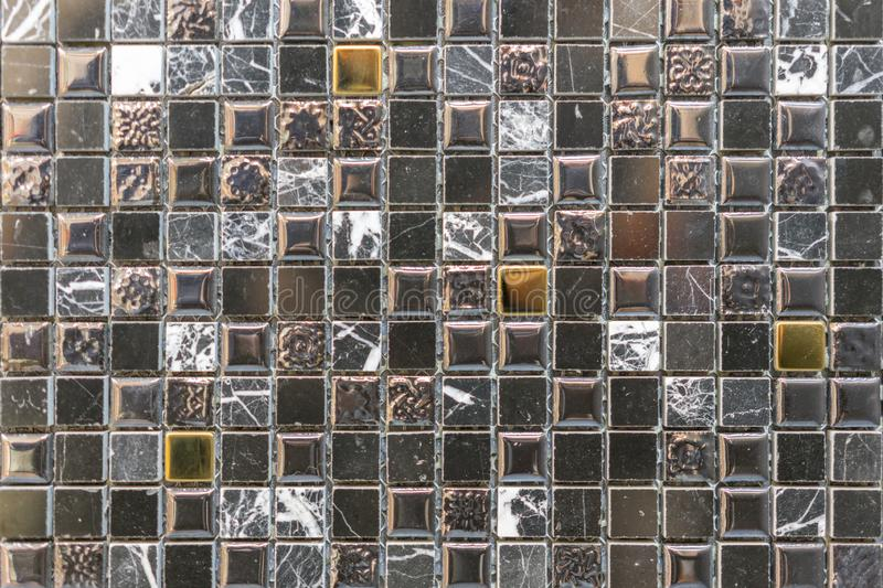 The beautiful pattern of ceramics wall texture for background. Ceramic glass colorful tiles mosaic composition pattern background.  stock image