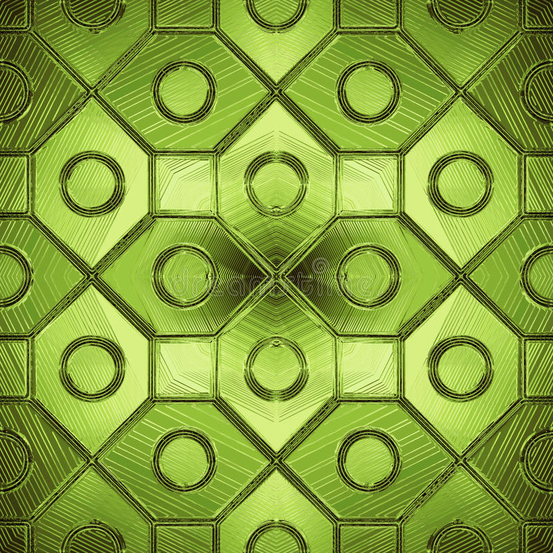 Download Beautiful Pattern On A Green Glass Stock Illustration - Image: 14831287