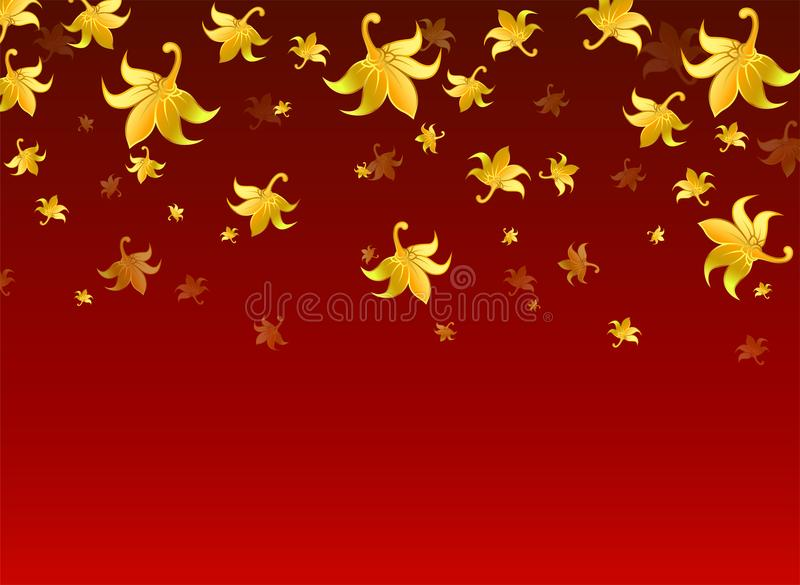 Pattern Thai Style On Blue Background, Wallpaper And Golden Flower