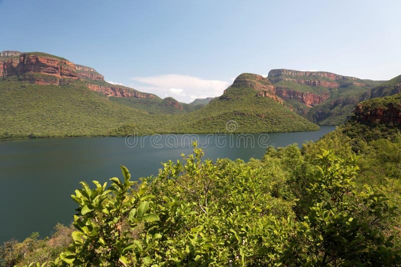 Beautiful peaceful mountain lake stock image