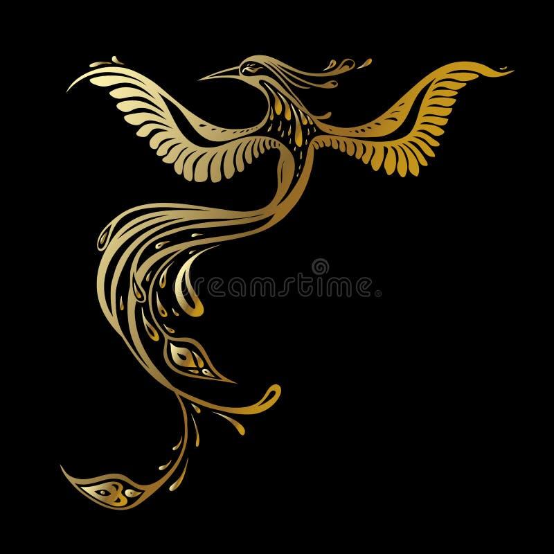 Beautiful peacock. Exotic bird royalty free illustration