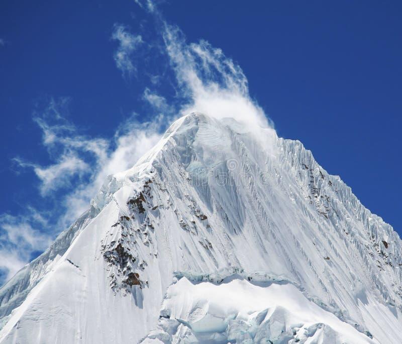 Beautiful peak Alpamayo royalty free stock photos