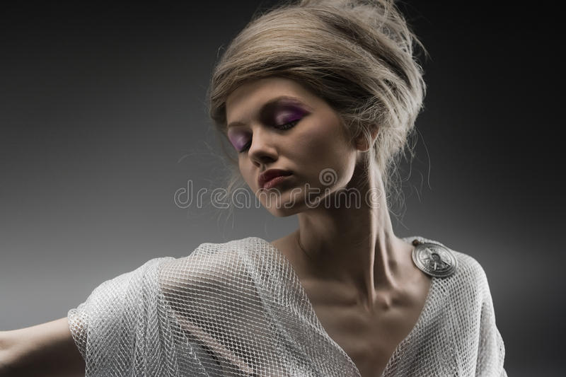 Download Beautiful Pensive Glamour Girl Creative Hairstyle Stock Image - Image: 16086813