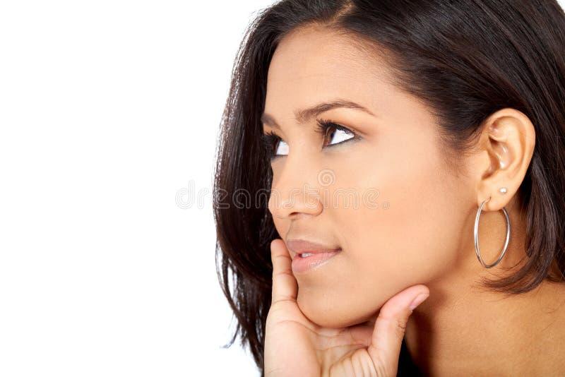 Download Beautiful pensive woman stock image. Image of eyes, hope - 4807429
