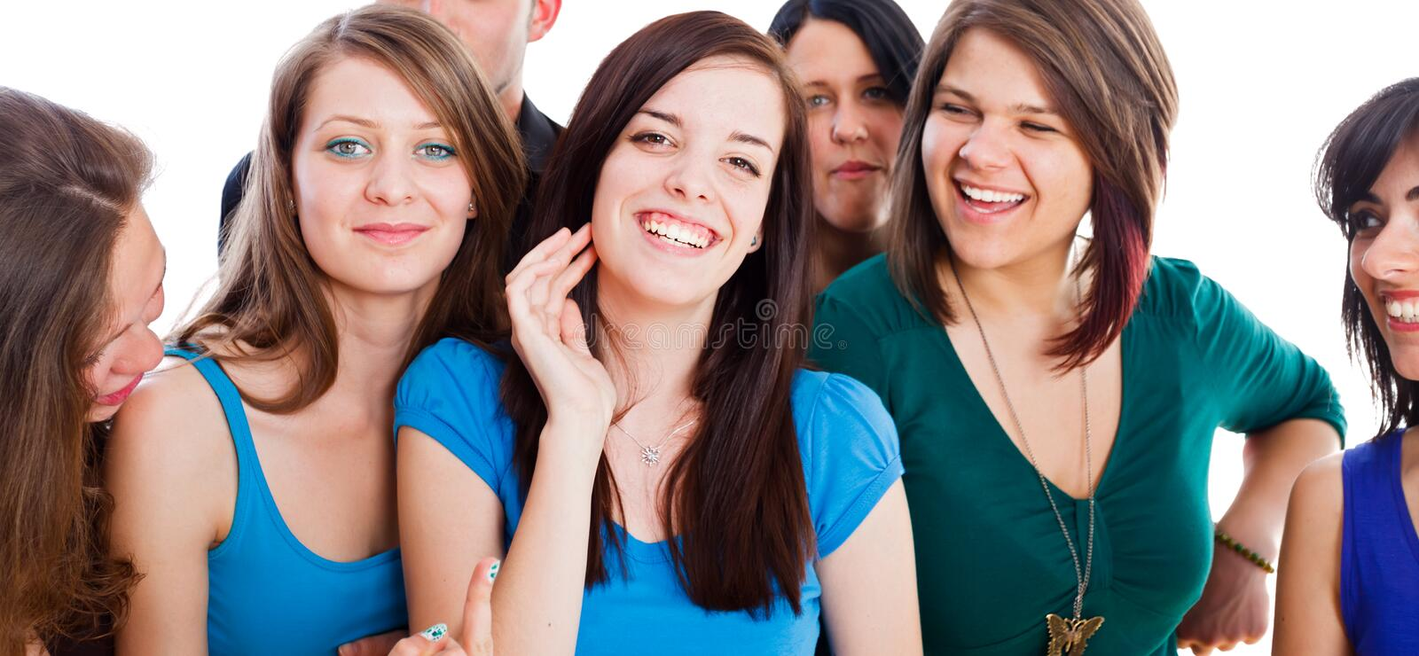 Beautiful People. Group of beautiful people together smiling and enjoying their time stock photography