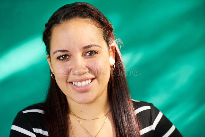 Beautiful People Portrait Happy Pretty Latina Girl Laughing royalty free stock photos