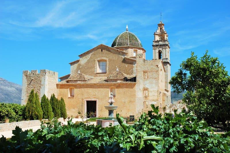 Wonderful sight of the Simat de la Valldigna Monatery in valencia stock photo