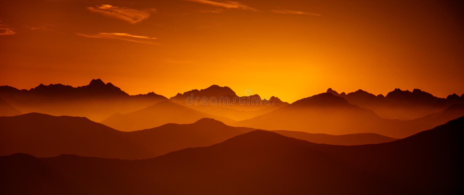 Download A Beautiful Perspective View Above Mountains With A Gradient Stock Image - Image of ridge, panoramic: 98494085