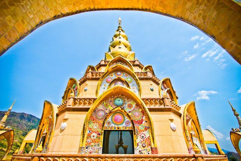 Beautiful Pha Son Kaew Pagoda royalty free stock photography