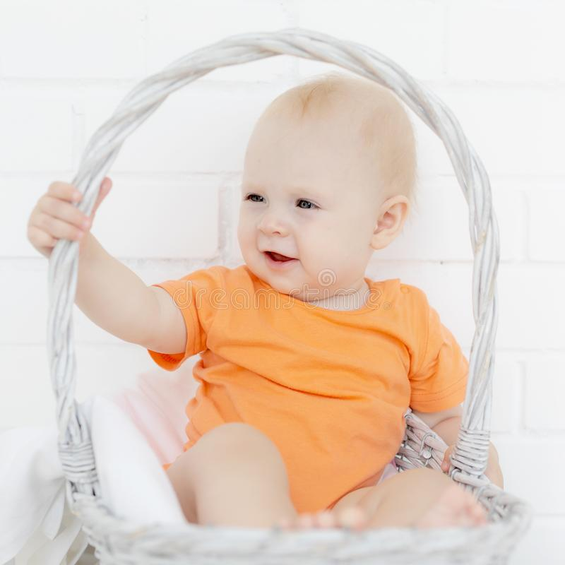 Portrait of the beautiful baby stock images