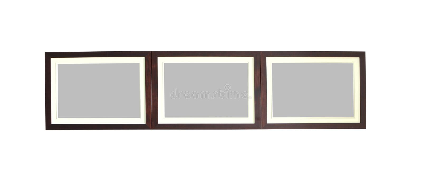 Beautiful photo frame made by wood texture stock photography