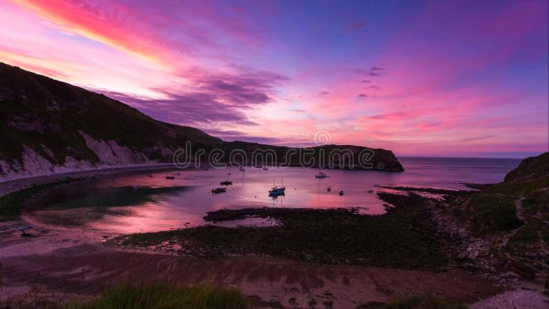 A beautiful photography spot on the south west coast of England, on the jurassic coast royalty free stock photo