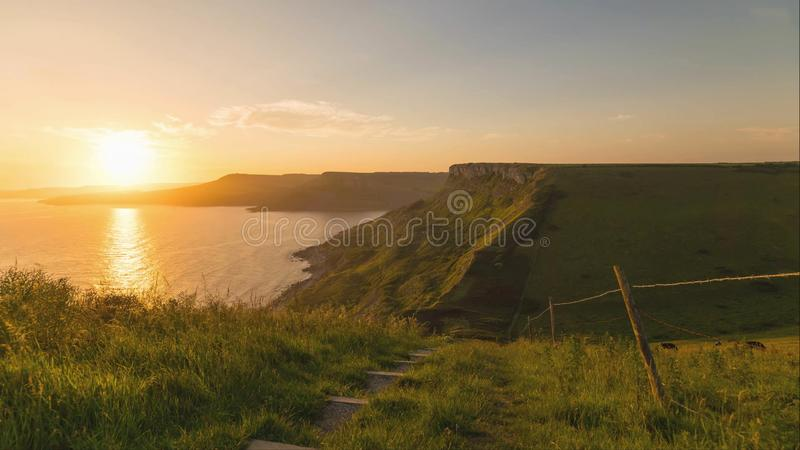 A beautiful photography spot on the south west coast of England, on the jurassic coast royalty free stock images
