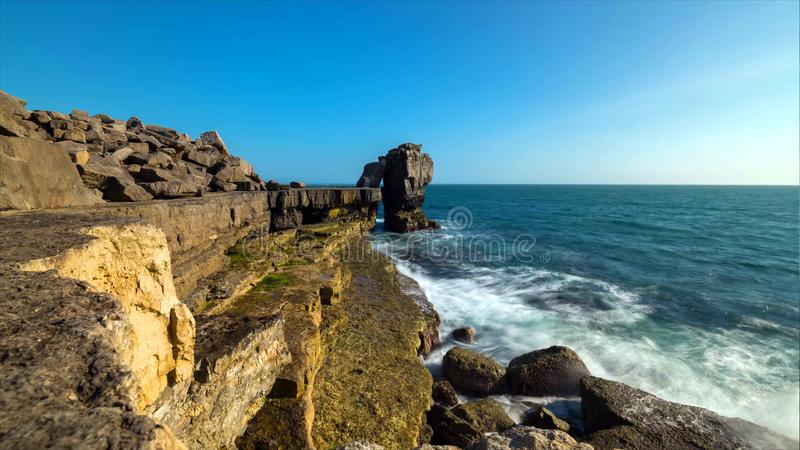 A beautiful photography spot on the south west coast of England, on the jurassic coast stock photography