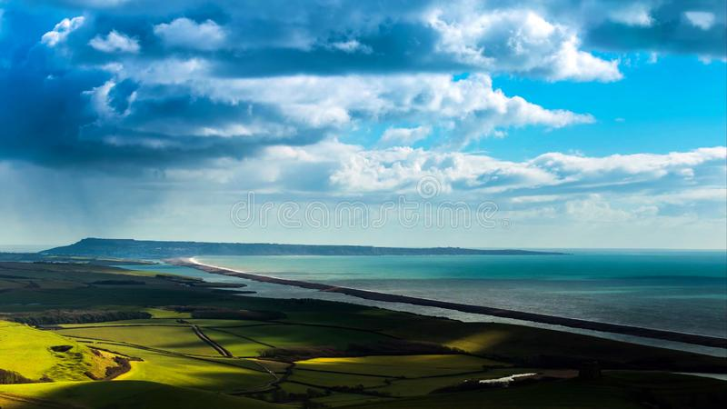 A beautiful photography spot on the south west coast of England, on the jurassic coast stock images