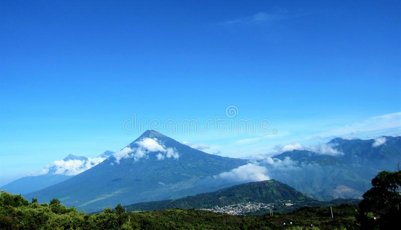 Mountain above the clouds, nature in its best royalty free stock images