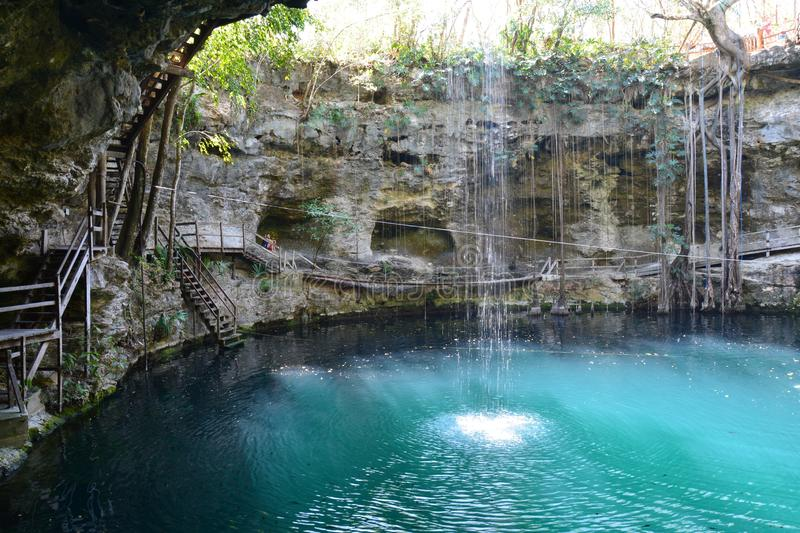 Cenote X´Canché near Valladolid Mexico stock images