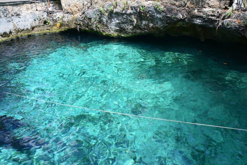 Cenote Zacil Ha near Tulum Mexico stock photography