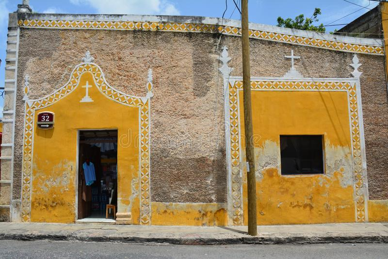 Yellow Village of Izamal Yucatan in Mexico stock images
