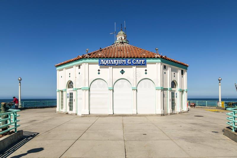 Beautiful pier at Hermosa Beach stock image