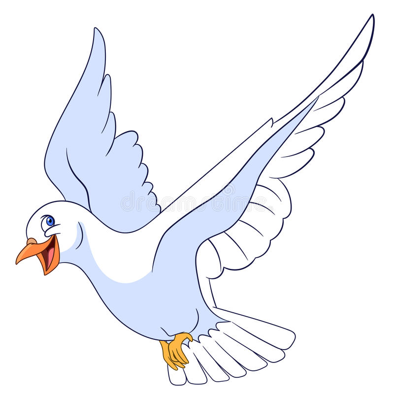 Beautiful pigeon stock illustration