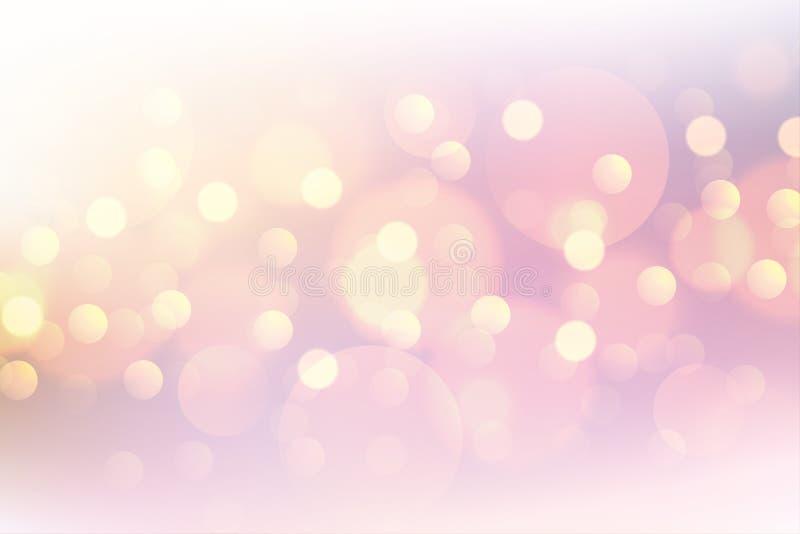 Beautiful pink bokeh soft blurred background stock illustration