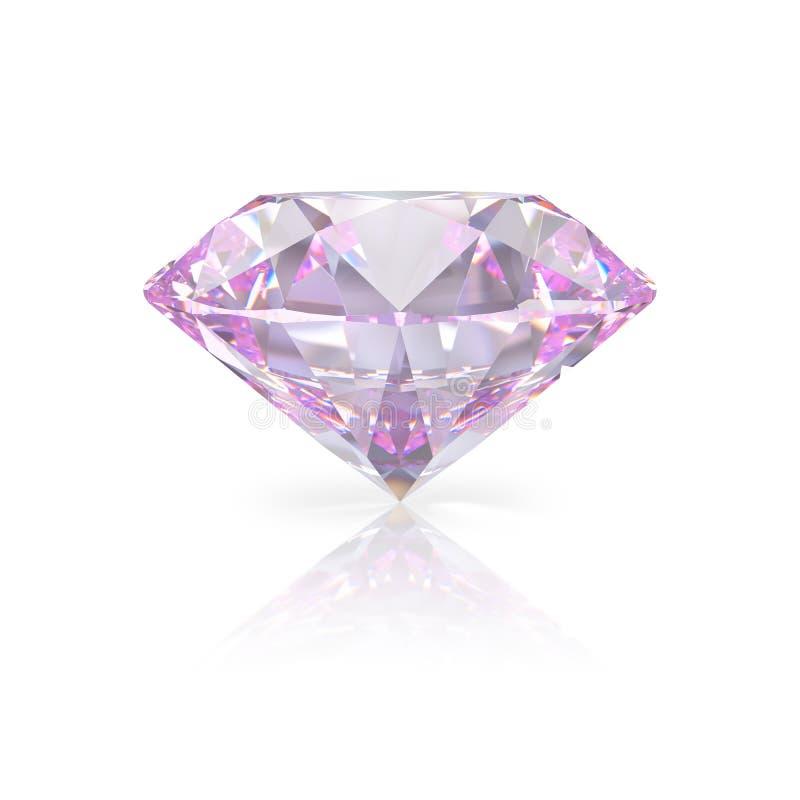 Pink diamond royalty free illustration