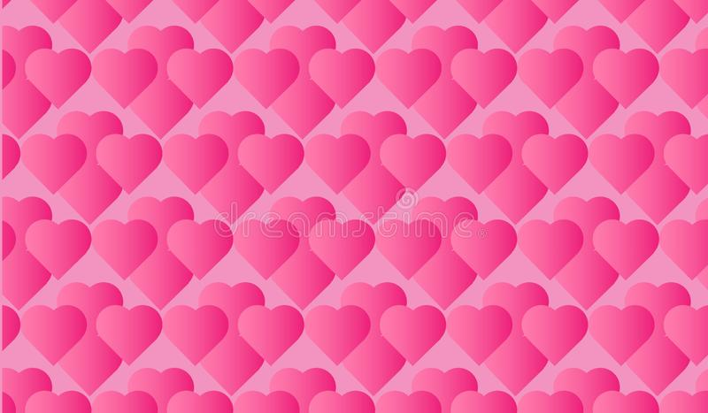 beautiful pink wallpaper background hearts pattern printing paper 168135637