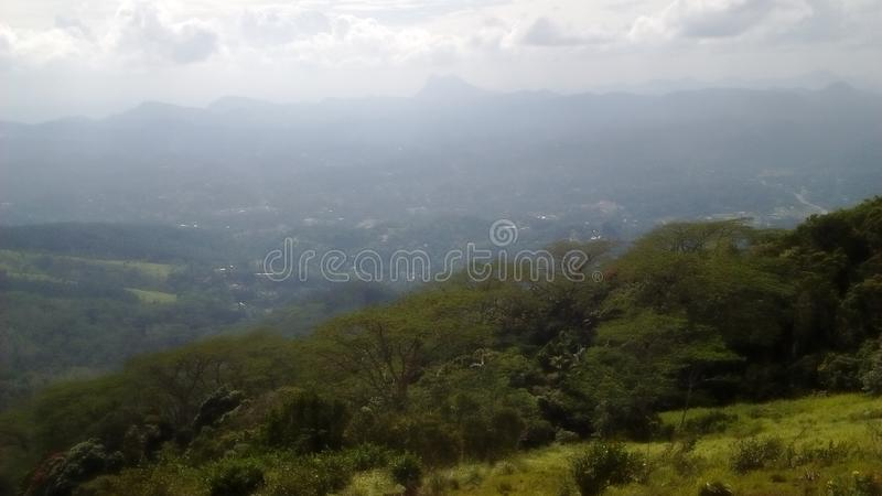 Hanthana mountain range sri lanka royalty free stock image