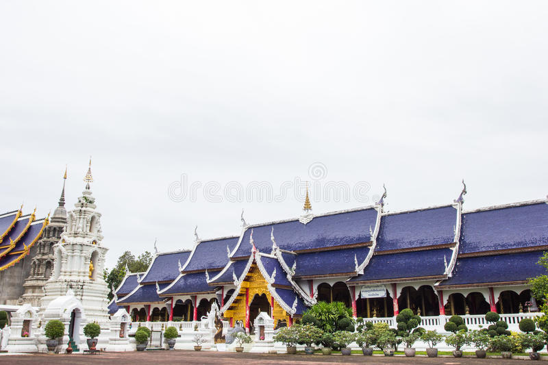 MAETANG, CHAINGMAI - OCT13, 2015: Beautiful place of worship with religious teachings in Chiangmai Thailand, Wat Baan Den royalty free stock photography