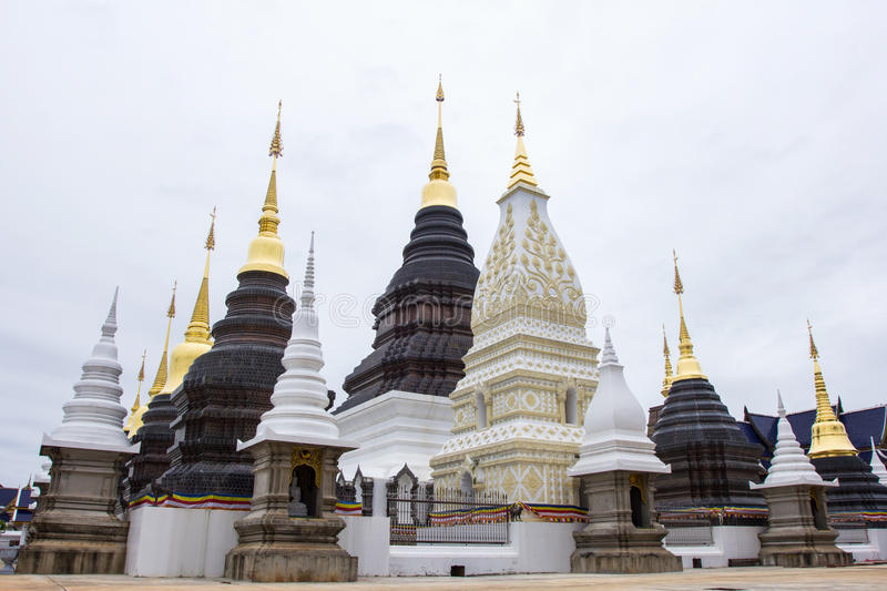 Beautiful place of worship with religious teachings in Chiangmai Thailand, Wat Baan Den royalty free stock images