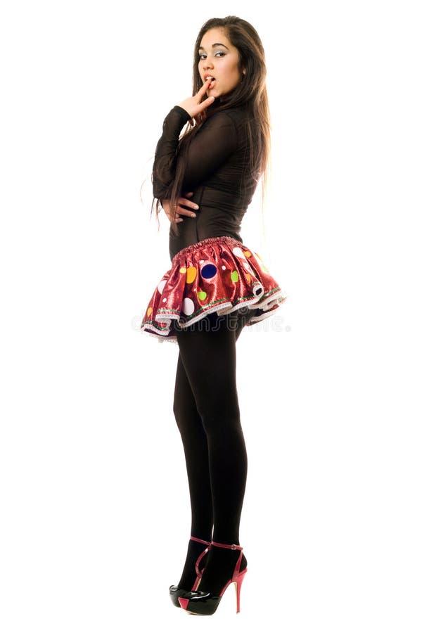 Beautiful playful young woman stock images