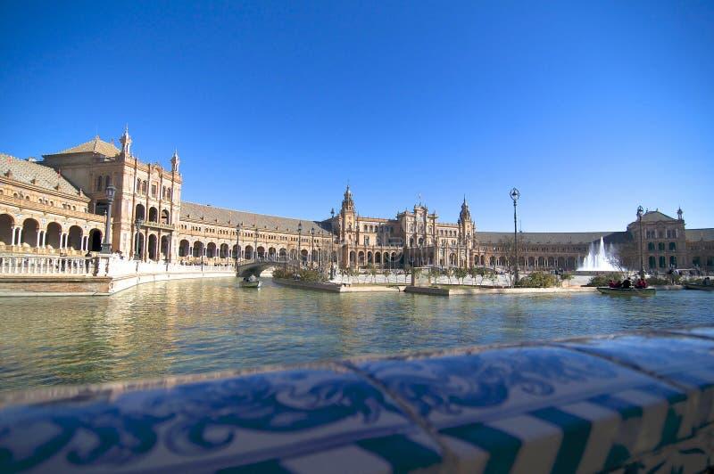 Beautiful Plaza de España de Séville photos stock