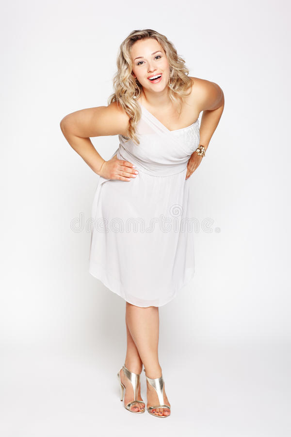 Beautiful plus size woman stock photography