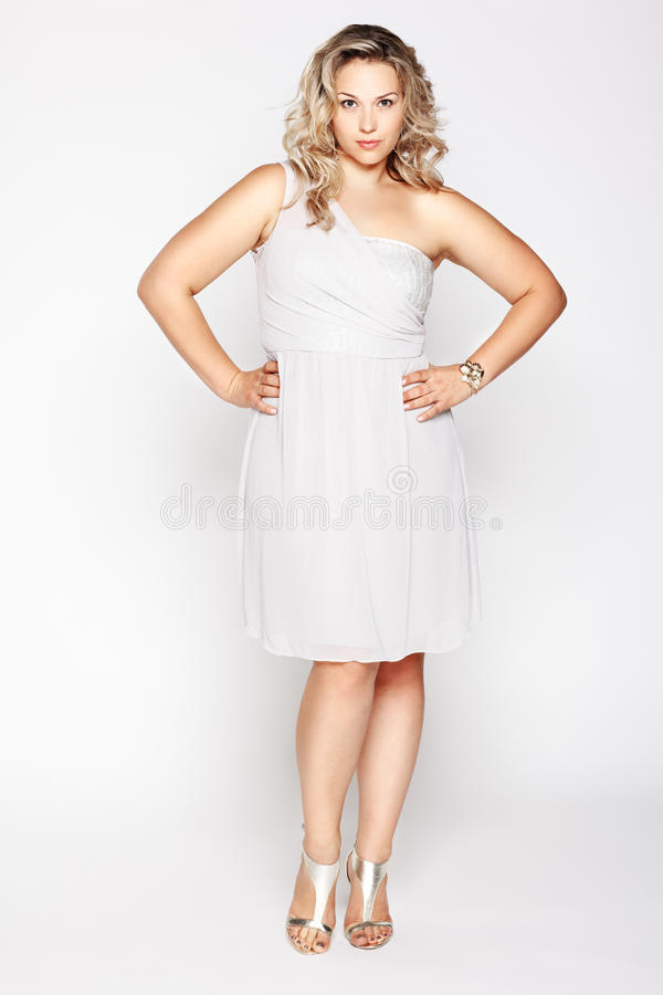 Beautiful plus size woman stock image