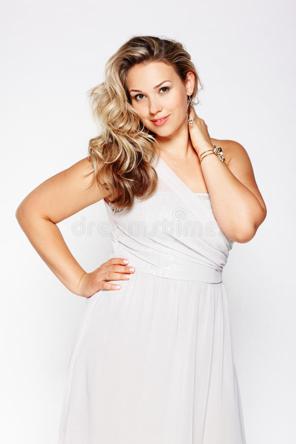 Download Beautiful plus size woman stock photo. Image of lady - 29008774