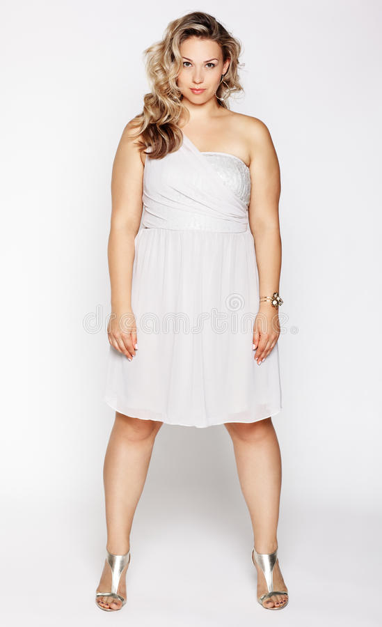 Beautiful plus size woman stock photos