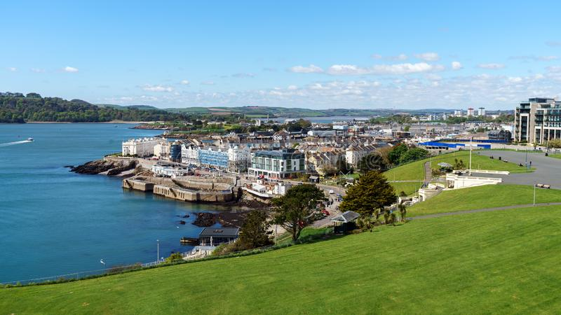 Beautiful Plymouth Hoe, Devon, United Kingdom, May 3, 2018. Beautiful Plymouth Hoe, Devon, United Kingdom May 3 2018 royalty free stock photos