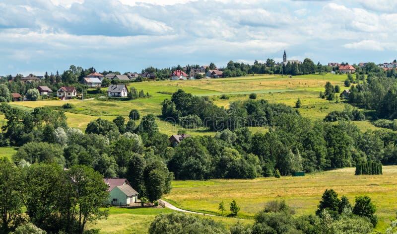 Beautiful Polish village. South Poland royalty free stock photography
