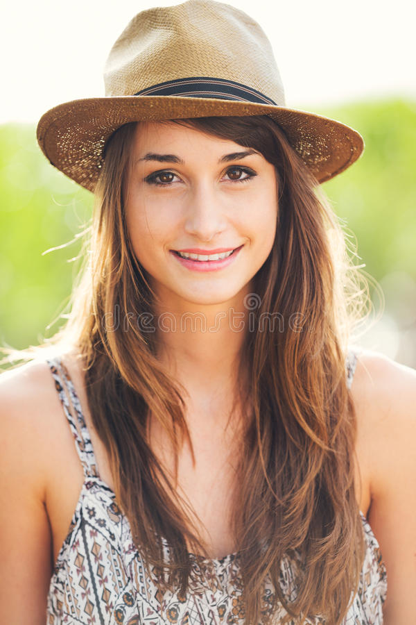 Beautiful Portrait Of A Carefree Happy Girl Royalty Free Stock Image