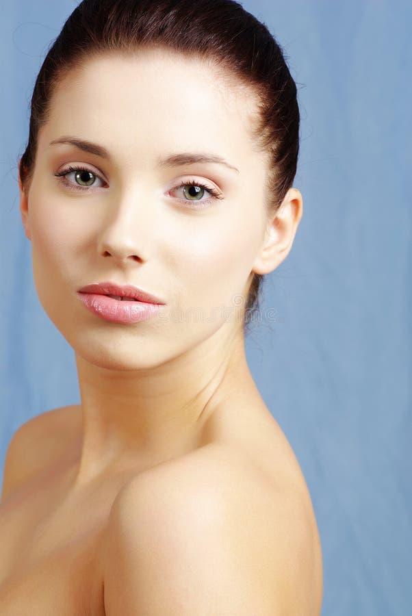 Beautiful portrait. Creative makeup royalty free stock photo
