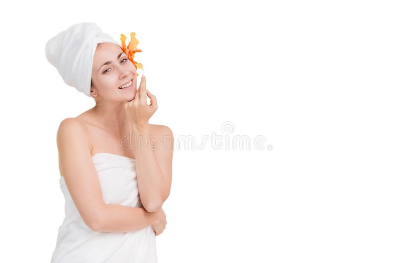 Beautiful portrait spa woman royalty free stock photos
