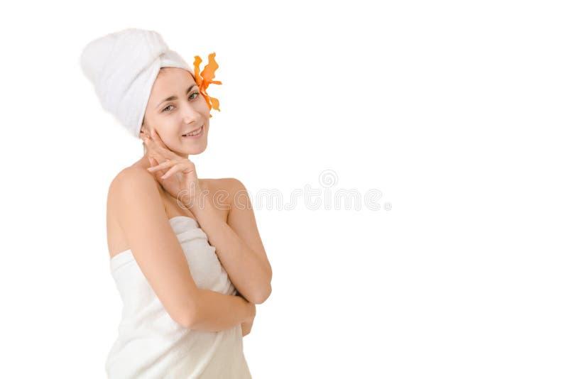 Beautiful portrait spa woman stock photo