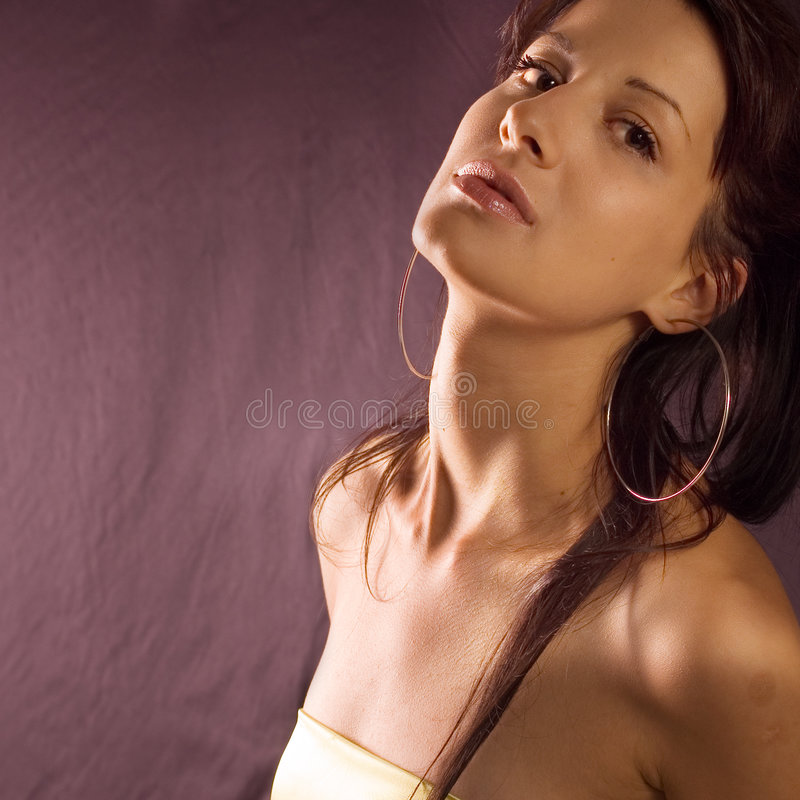 Beautiful portrait woman royalty free stock photography