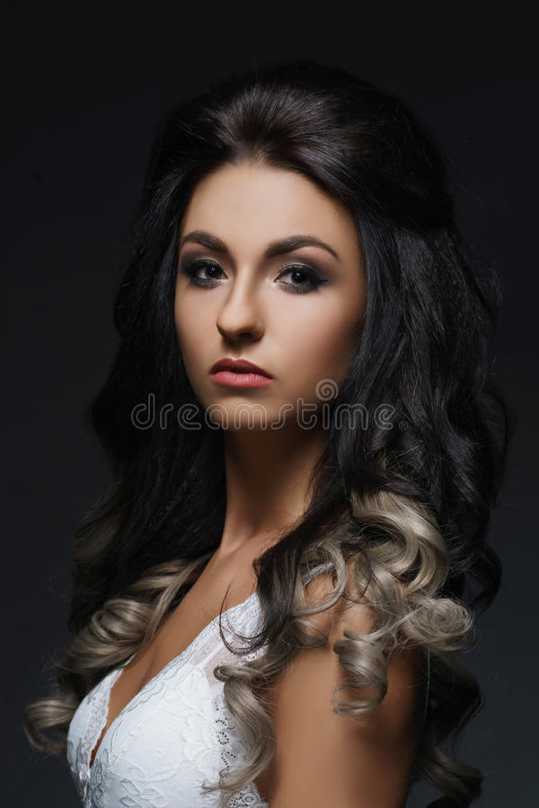 Beautiful portrait of young and attractive woman. royalty free stock photo